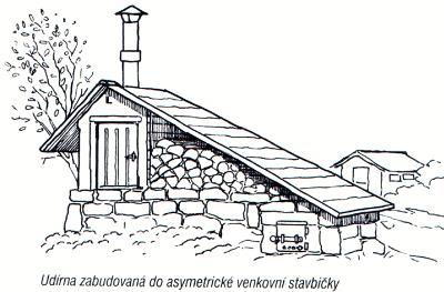 Udírna která vychází z místního charakteru venkovských domů
